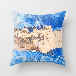 Damaged shipboard Throw Pillow
