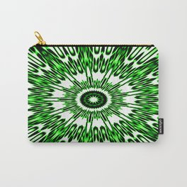 Green White Black Explosion Carry-All Pouch