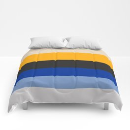 Complementary Blue & Yellow Colorful Geometric Pattern Comforters