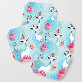 Mod Kitty Christmas Coaster