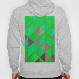 Bright Green Geometric Retro Hoody