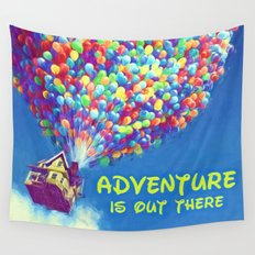 Up Balloons Wall Tapestry
