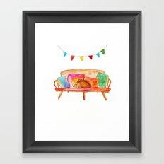 Porcupine hanging out Framed Art Print