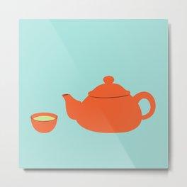 Tea invitation Metal Print