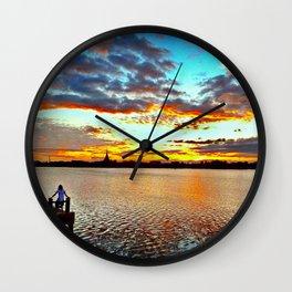 Lake View. Wall Clock
