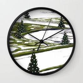 Enchanted garden Wall Clock