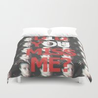 moriarty Duvet Covers featuring Did You Miss Me? / IOU / Moriarty / VII by Earl of Grey