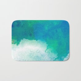 Abstract Blue Bath Mat