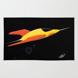 Yellow Space Rocket Rug