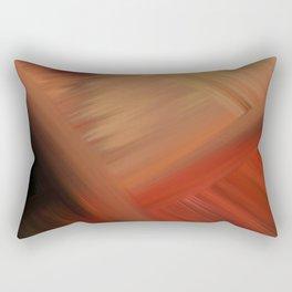 Interconnectedness in Gold, Tan and Orange Blends Rectangular Pillow