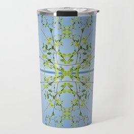 Birch on blue Travel Mug