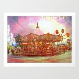 Merry Go Round Art Print