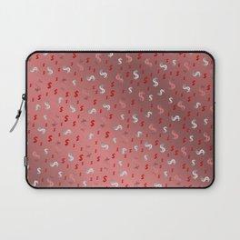 pink,silver,dollar, symbol in shiny metall textur Laptop Sleeve