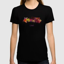Linz skyline in watercolor T-shirt
