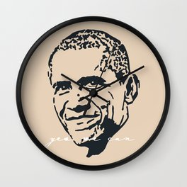 Yes We Can IV Wall Clock