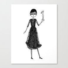Eloise as Audrey Hepburn in How to Steal a Million Canvas Print
