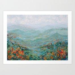 Blue Ridge October Art Print