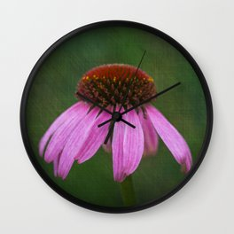 Purple Coneflower Wall Clock