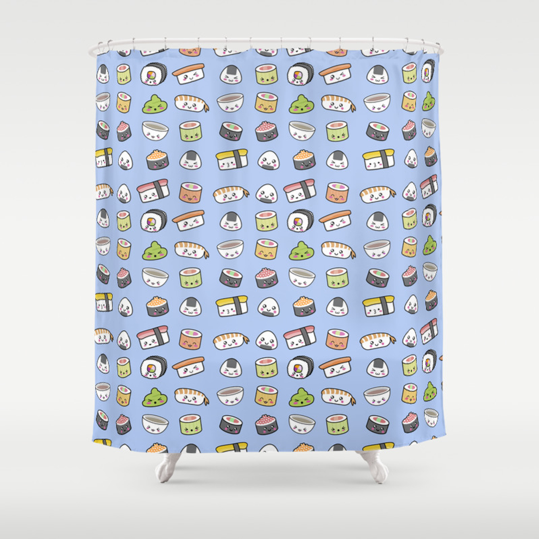 Seafood Shower Curtains | Society6