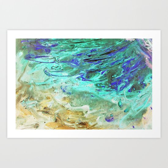 The flood Art Print
