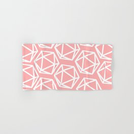D20 - Pattern - Pink & White Hand & Bath Towel