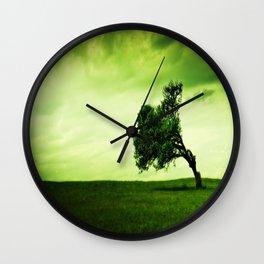 the windswept tree Wall Clock