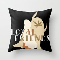 appa Throw Pillows featuring Loyal Friends by JackiesGamingArt