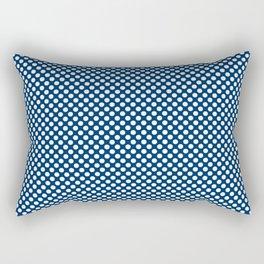 Cool Black and White Polka Dots Rectangular Pillow