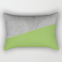 Concrete and greenery color Rectangular Pillow
