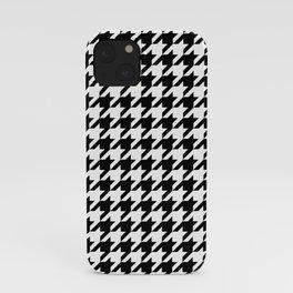 Houndstooth pattern, geometric monochrome iPhone Case