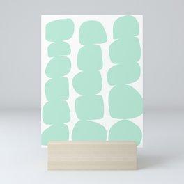 Aqua Stones Mini Art Print