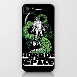 Horror In Deep Space iPhone Case