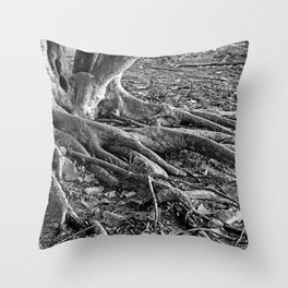 The Fingers-bw Throw Pillow