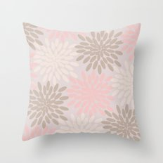 Pastel Petals Throw Pillow