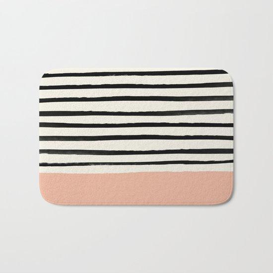 Peach x Stripes Bath Mat