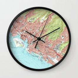 Honolulu Hawaii Map (1983) Wall Clock