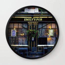Emily's Pub Wall Clock