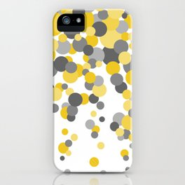 Falling Dots - Yellows and Grays iPhone Case