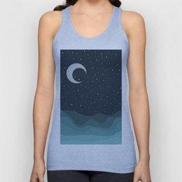 Starry Night over the Ocean Unisex Tank Top