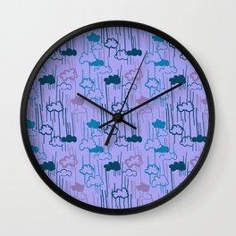 Lovely Rain Wall Clock