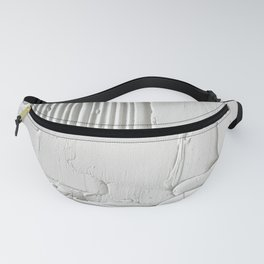 Relief [3]: an abstract, textured piece in white by Alyssa Hamilton Art  Fanny Pack