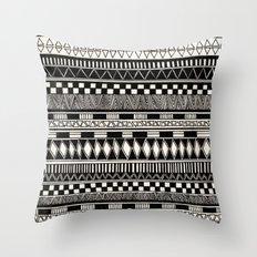 black//white Throw Pillow