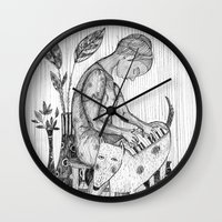 piano Wall Clocks featuring piano by Agnes Laczo