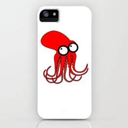 Cute Red Octopus iPhone Case