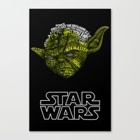 yoda Canvas Prints featuring Yoda by Stormega