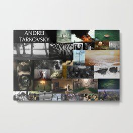 A. Tarkovsky Tribute Metal Print