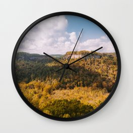 View from Chimney Top Rock - Red River Gorge, Kentucky Wall Clock