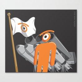 cold glance Canvas Print