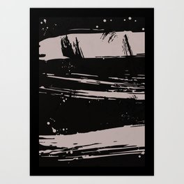 Brush strokes - Set of 3 Prints-01 Art Print
