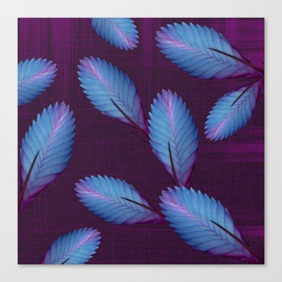 Tillandsia in dark purple Canvas Print
